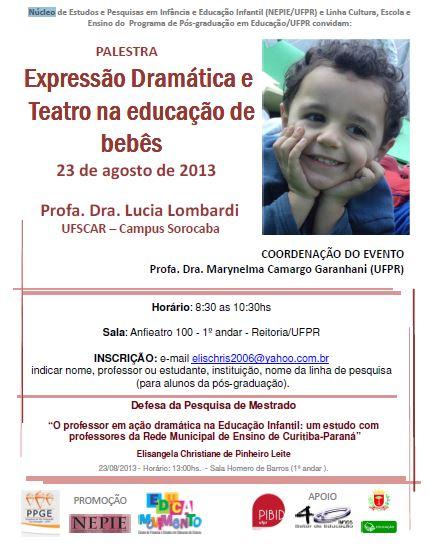 Palestra UFPR Expressão Dramática e Teatro