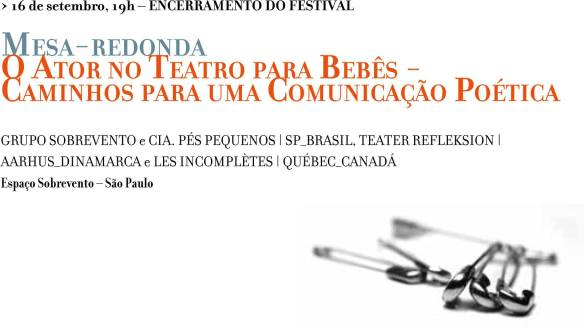 Festival Primeiro Olhar mesa dia 16 SET 2013